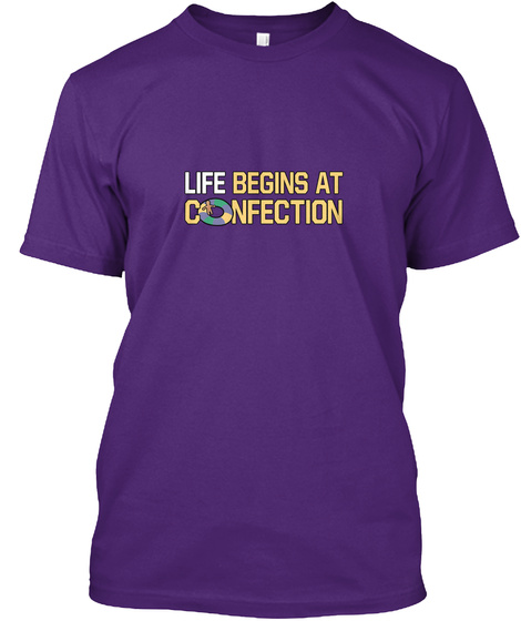 Life Begins At Connection Purple T-Shirt Front