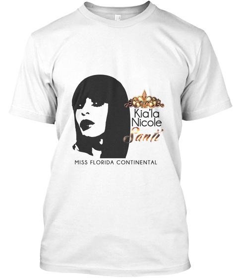 Kia'la Nicole Santi Miss Florida Continental White T-Shirt Front