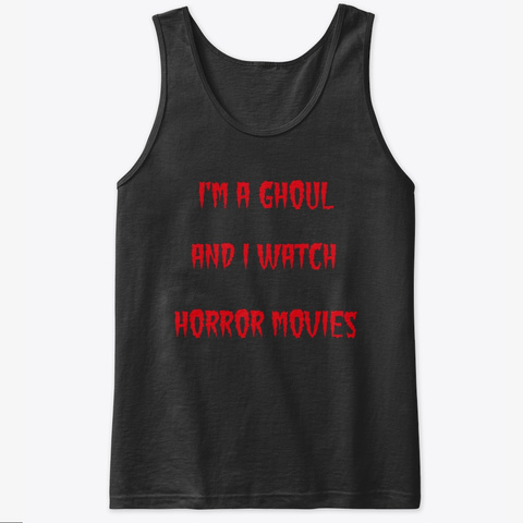Ghoul Tank Black Tank Top Front