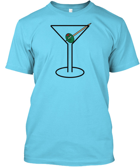 Happy Olive Tahiti Blue T-Shirt Front