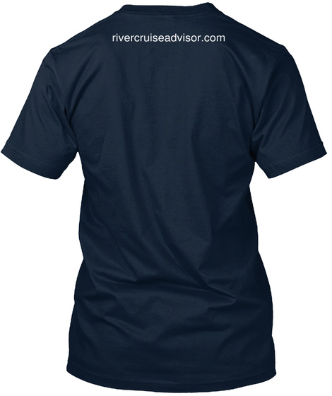 Rivercruiseadvisor.Com New Navy T-Shirt Back