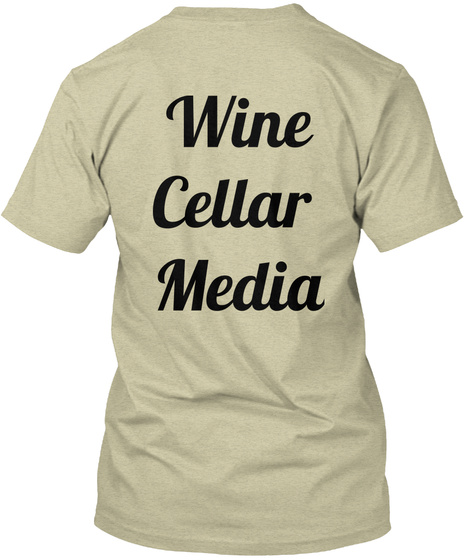 Wine Cellar  Media Oatmeal T-Shirt Back