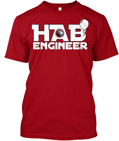Hab Engineer Deep Red T-Shirt Front