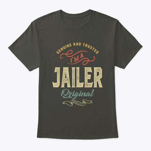 Jailer Job Title Men Women Gift Smoke Gray T-Shirt Front