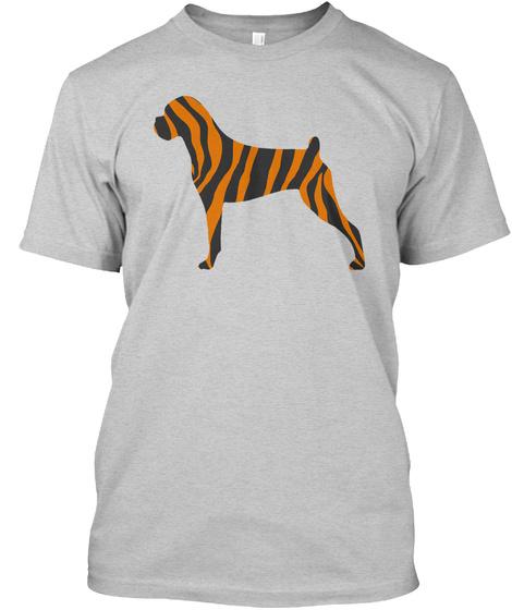 Boxer Tiger Pattern Light Steel T-Shirt Front