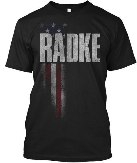 Radke Family American Flag Black T-Shirt Front