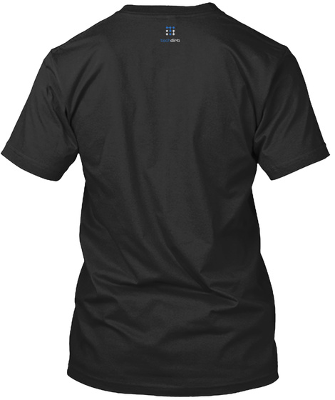 Up Tight (Nsa Collection) Black T-Shirt Back