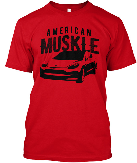 Limited Edition   American Muskle 3 Red T-Shirt Front