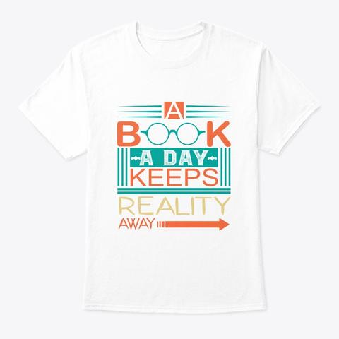 Nerd Book White T-Shirt Front