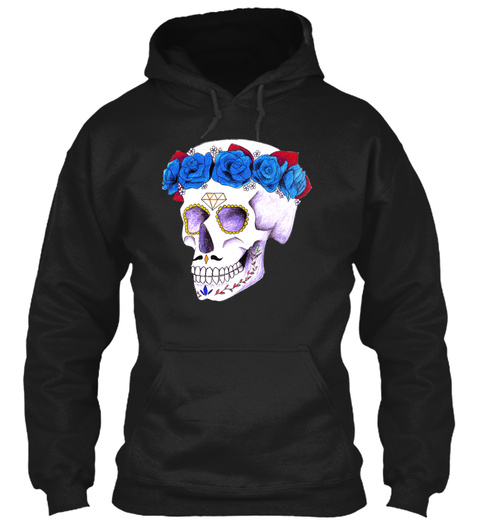 Skull In Colors Shirt Black T-Shirt Front