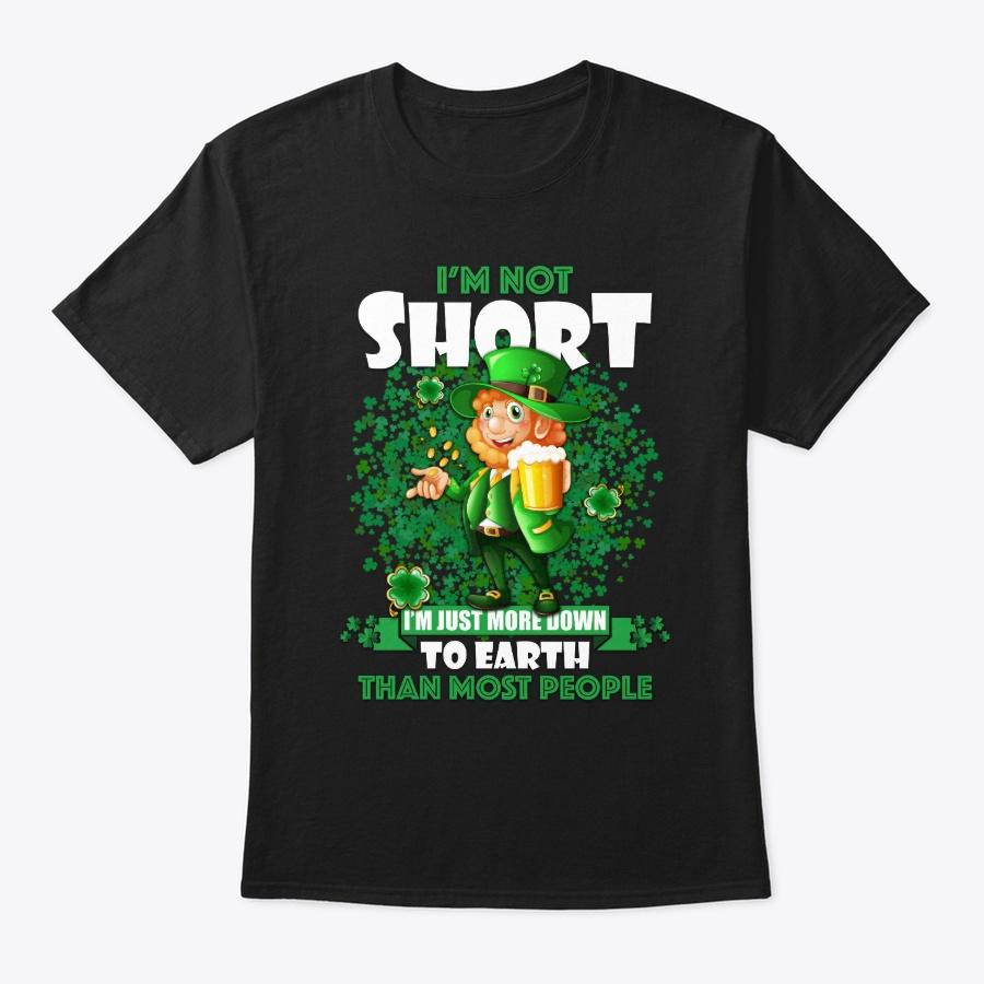 Funny St Patricks Day – Im Not Short – V-neck T Shirt Red Size Xl