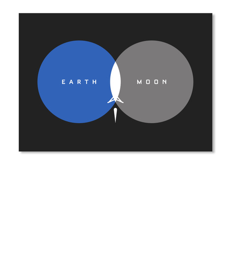 From Earth To Moon Sticker [Int] #Sfsf Black Sticker Front