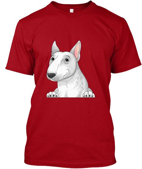 Bull Terrier 008 Deep Red T-Shirt Front