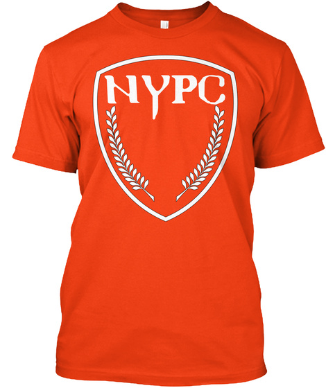 Nypc Deep Orange  T-Shirt Front
