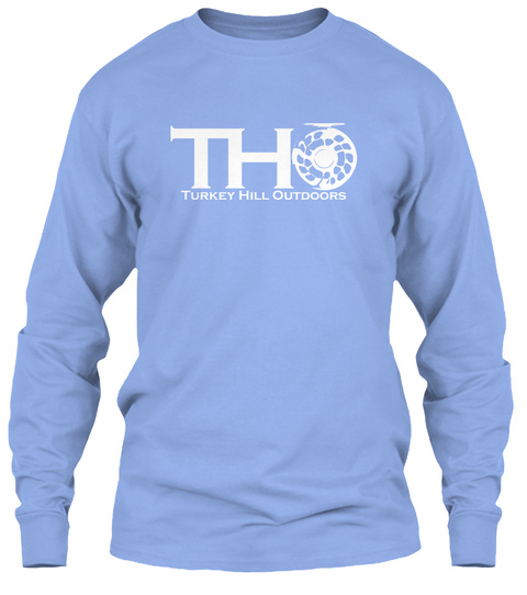 Tho Turkey Hill Outdoors Light Blue Long Sleeve T-Shirt Front