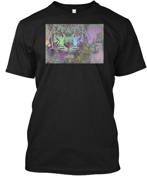 Tiger Run T Shirt Black T-Shirt Front