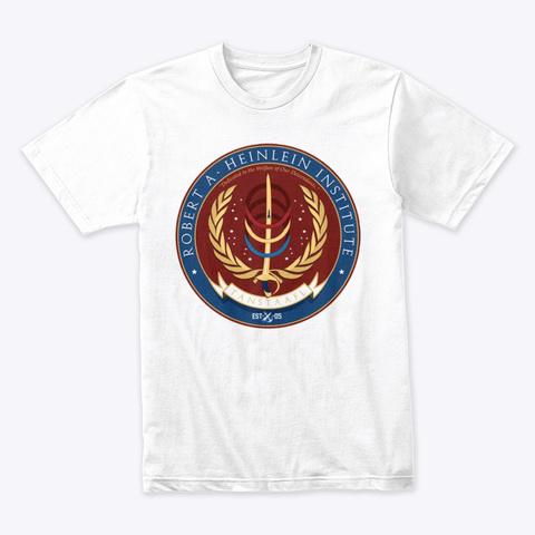 Heinlein Institute Crest White T-Shirt Front