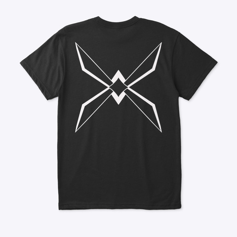 Copter Black White Abstract Blade  Black T-Shirt Back