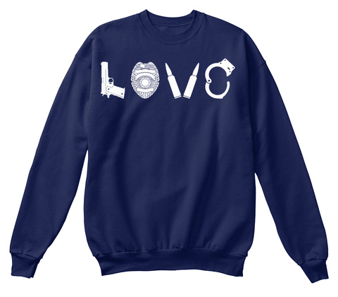 Love Navy  Sweatshirt Front