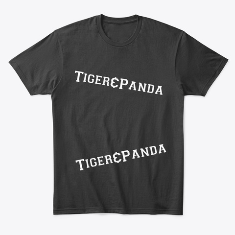 Tiger &Amp; Panda Merchandise Black T-Shirt Front