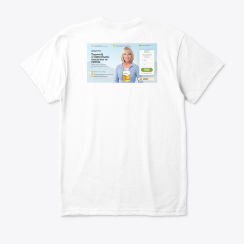 Urinol Pro White T-Shirt Back