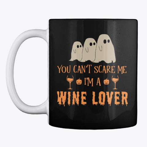 Wine Lover Halloween Mug Black Mug Front