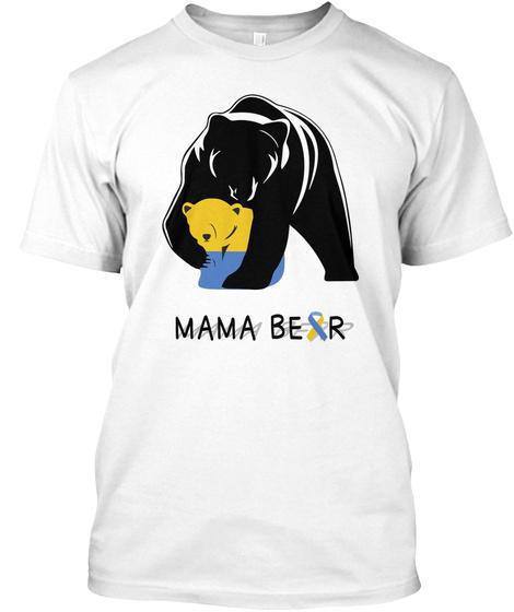 Mama Bear White T-Shirt Front