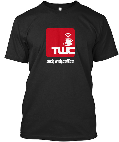 Twc Techwithcoffee Black T-Shirt Front