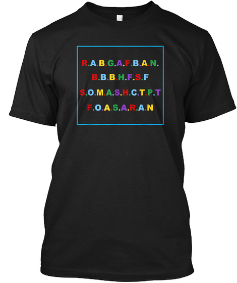 Rabgafban T Shirt Black T-Shirt Front
