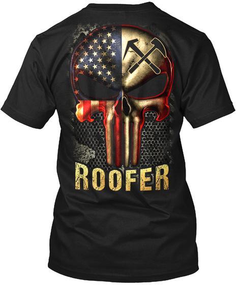 Roofer Black T-Shirt Back