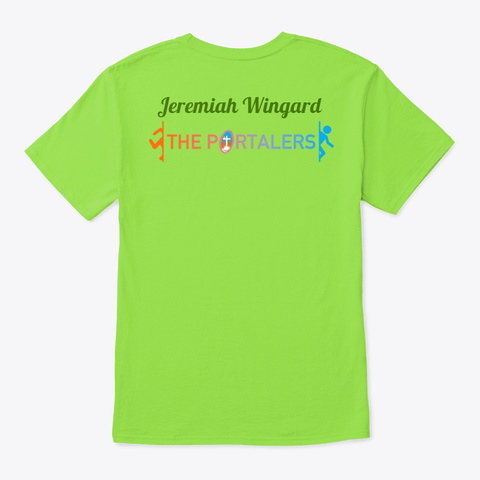 The Portalers   Jeremiah's Collection Lime T-Shirt Back