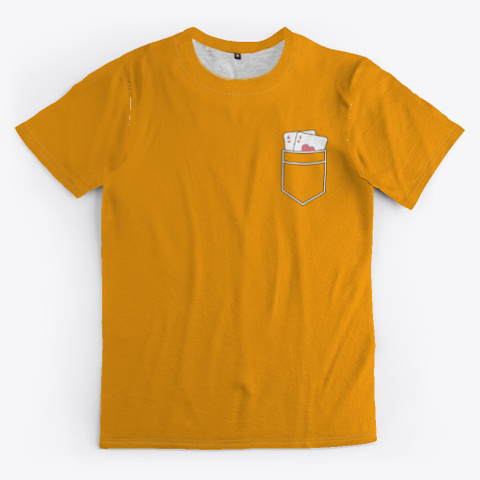 Poker A 2 Style Strange Poison Orange T-Shirt Front