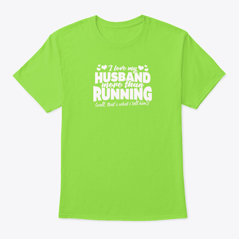 Christmas Gift For Runners Lime T-Shirt Front