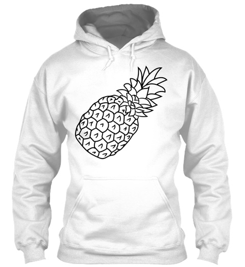 Pineapple Holidays Eat Well White T-Shirt Front