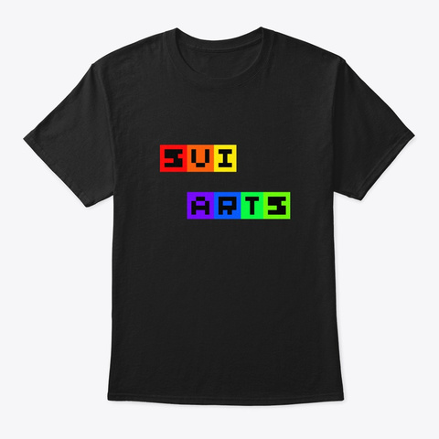 Sui Arts Logo Black áo T-Shirt Front