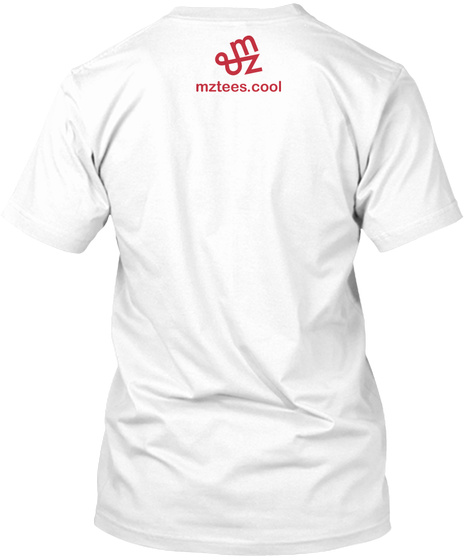 Red Quincunx White T-Shirt Back