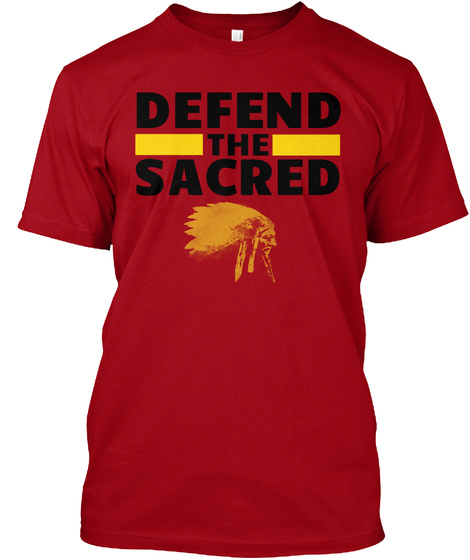 Defend The Sacred Deep Red T-Shirt Front