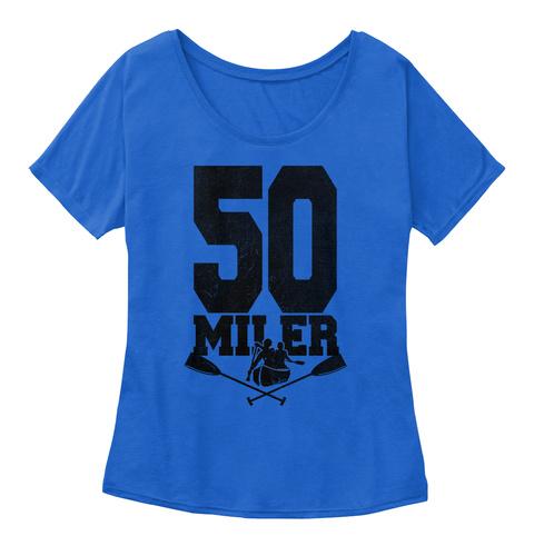 50 Miler True Royal T-Shirt Front