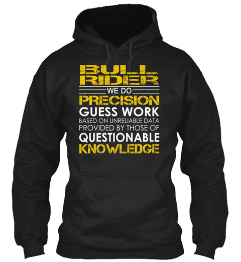 Bull Rider   Precision Black Sweatshirt Front