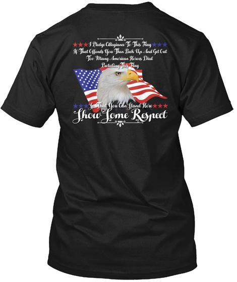 Show Them Respect Black T-Shirt Back