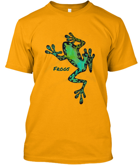 Frogs Gold T-Shirt Front