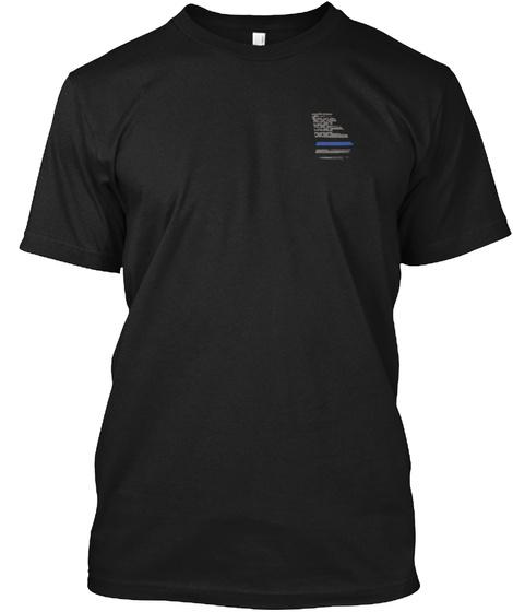 Georgia Law Enforcement Shirt Black T-Shirt Front