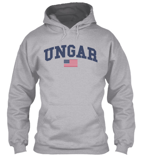 Ungar Family Flag Sport Grey T-Shirt Front