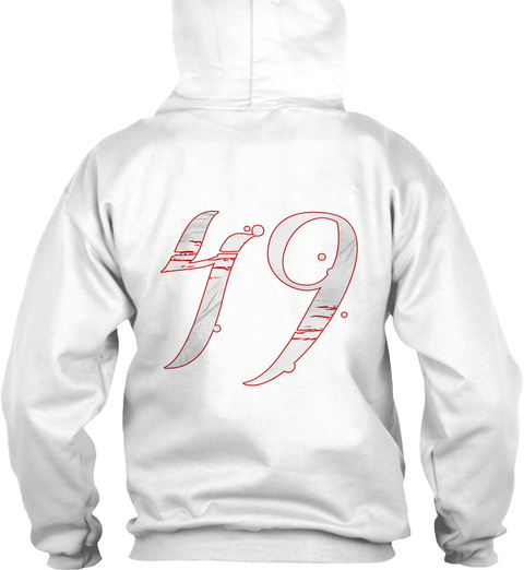 49 Ep Hoodies White T-Shirt Back