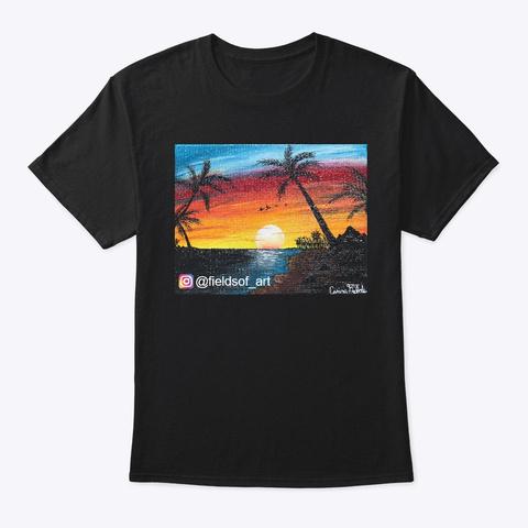 Fields Of Art Black T-Shirt Front