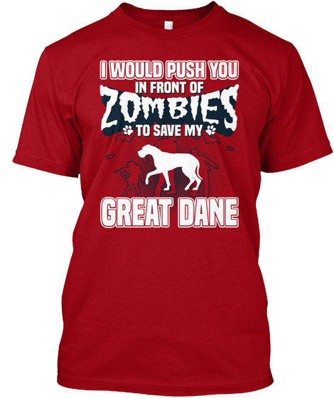 Great Dane Deep Red T-Shirt Front