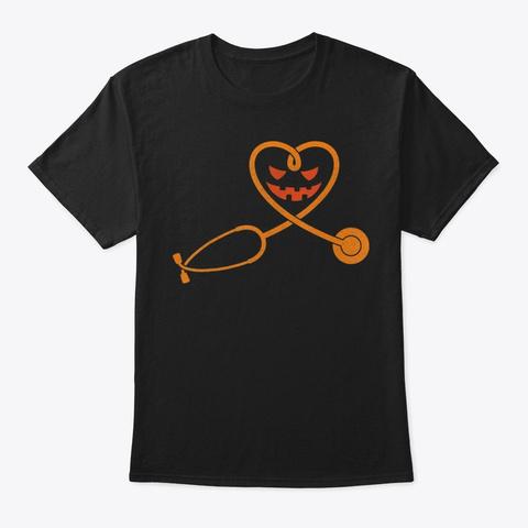 Nurse Doctor Halloween Costume Stethosco Black T-Shirt Front