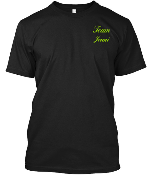 Team Jenni Black T-Shirt Front