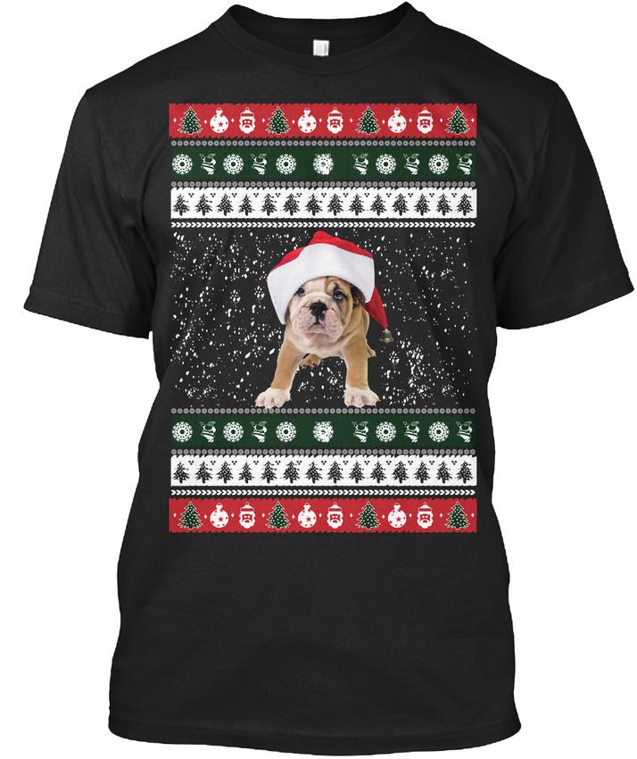 Trendy French Bulldog Christmas Swea (S-5XL) T-shirt Élégant T-shirt Élégant (S-5XL) Swea 6344f6