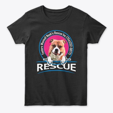 Noah's Rescue Inc  Black Camiseta Front